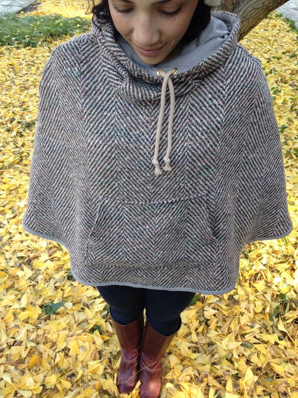 poncho pullover_yellowleaves